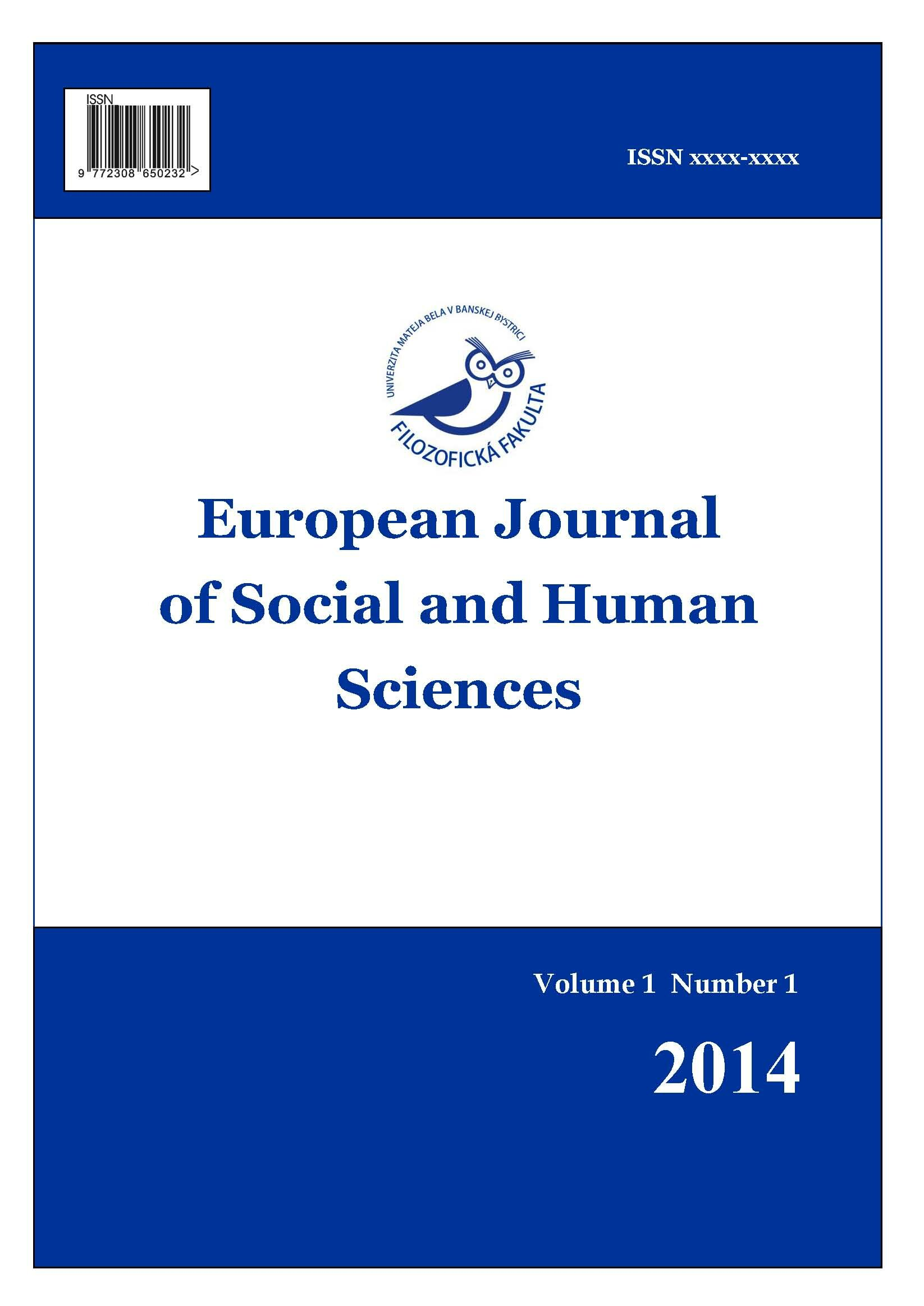 European Journal Of Social And Human Sciences